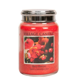 Berry Blossom Village Candle   Large Jar 170 Branduren