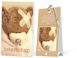 Beterschap Geurtasje - Wenskaart Incl envelop  12,5 x 8 cm