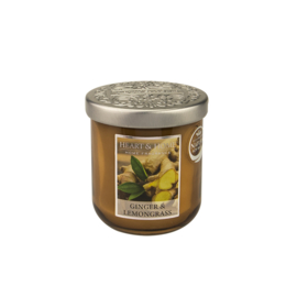 Ginger & Lemongrass geurkaars Heart & Home 115 gram