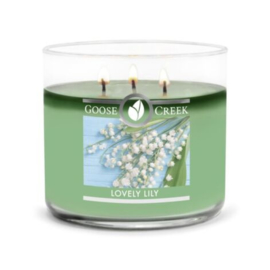 Lovely Lily  Goose Creek Candle Soy Blend 3 Wick Tumbler
