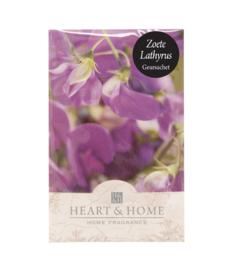 Zoete Lathyrus Heart & Home Geurzakje