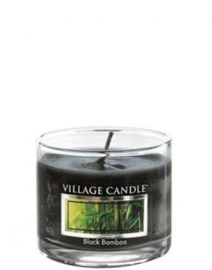 Black Bamboo Village Candle  Mini Glass Votive
