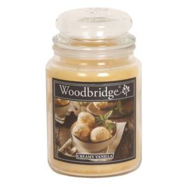 Creamy Vanilla Woodbridge Apothecary Scented Jar  130 geururen