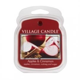 Apples & Cinnamon Village Candle  1 Wax Meltblokje