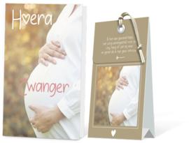 Hoera Zwanger Geurtasje - Wenskaart Incl envelop  12,5 x 8 cm