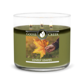 Lovely Leaves Goose Creek Candle  Soy Blend  3 Wick Tumbler