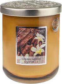 Sandelwood Vanilla  geurkaars Heart & Home 340 gram