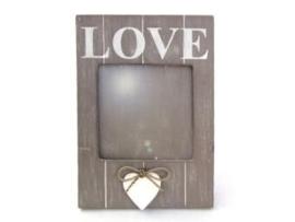 Fotolijst love + hart 20cm taupe