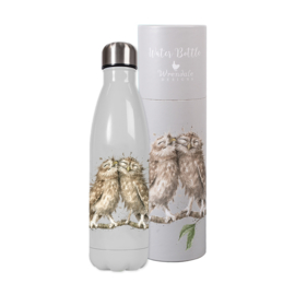 Wrendale Designs Waterfles Thermoskan 'Birds of a Feather' (Uil) 500ml