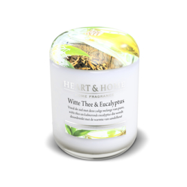 Witte thee & Eucalyptus Heart & Home  Large Jar