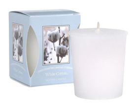 White Cotton Bridgewater Votive Geurkaars 15 Branduren