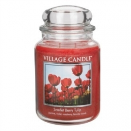 Scarlet Berry Tulip Village Candle  Large Jar 170 Branduren