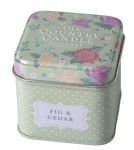 Country Candle  Fig & Cedar Vintage Floral - Tin