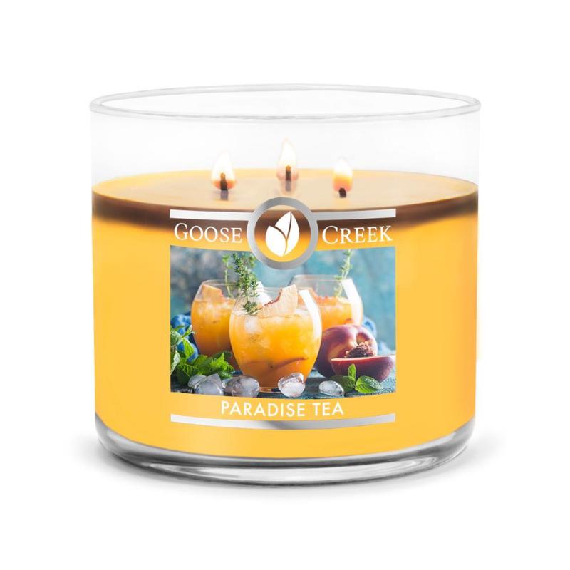Paradise Tea Goose Creek Candle  3 Wick Soy Blend  Geurkaars
