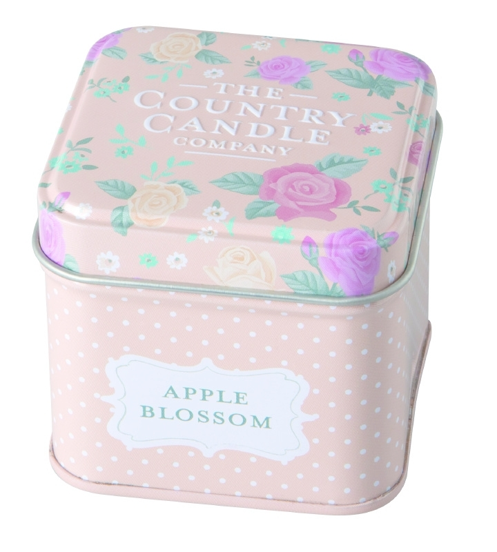 Country Candle Apple Blossom Vintage Floral - Tin