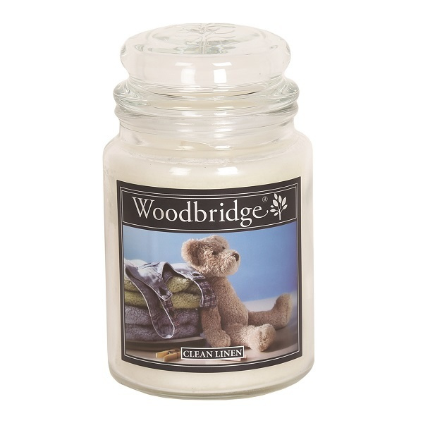 Clean Linen Woodbridge Apothecary Scented Jar  130 geururen