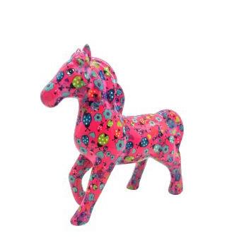 Pomme Pidou Spaarpot Paard Lucky  Roze met Bloemen