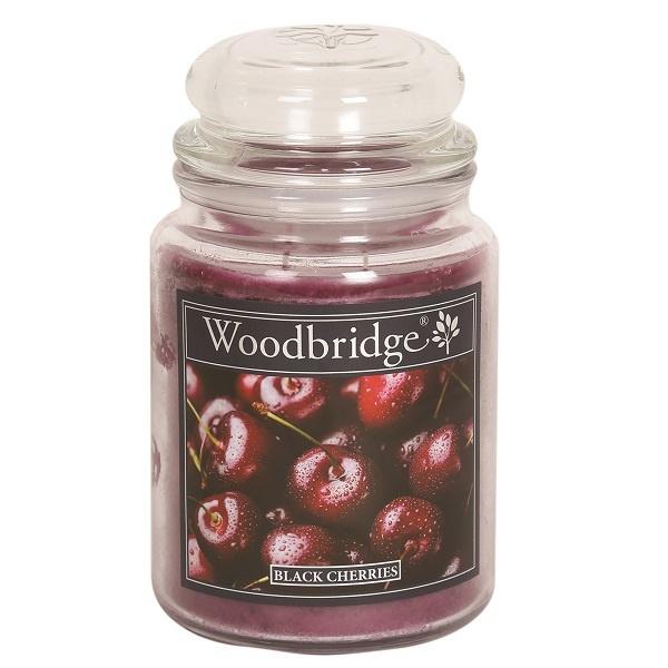 Black Cherries Woodbridge Apothecary Scented Jar  130 geururen