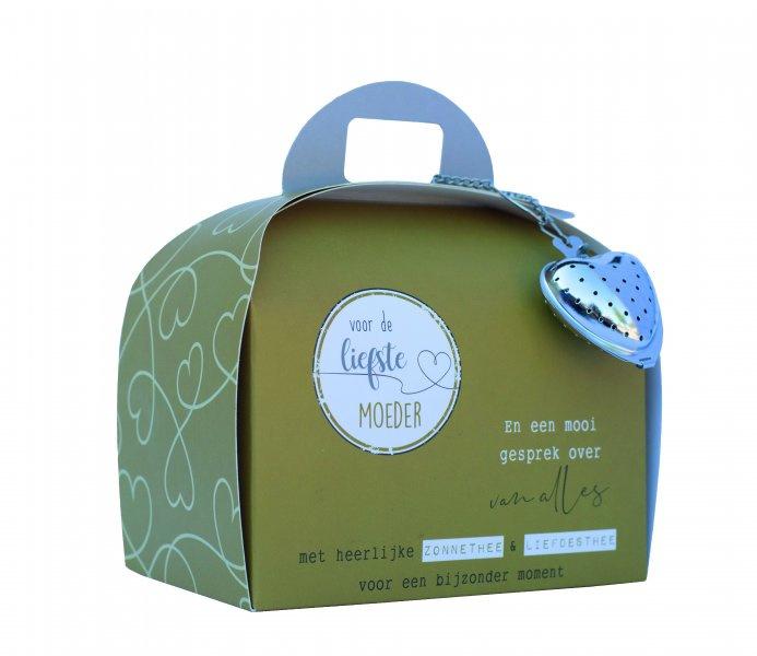 Theetas- Koffer Voor de liefste moeder  en een mooi gesprek over van alles