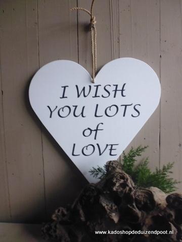 Teksthart I wish