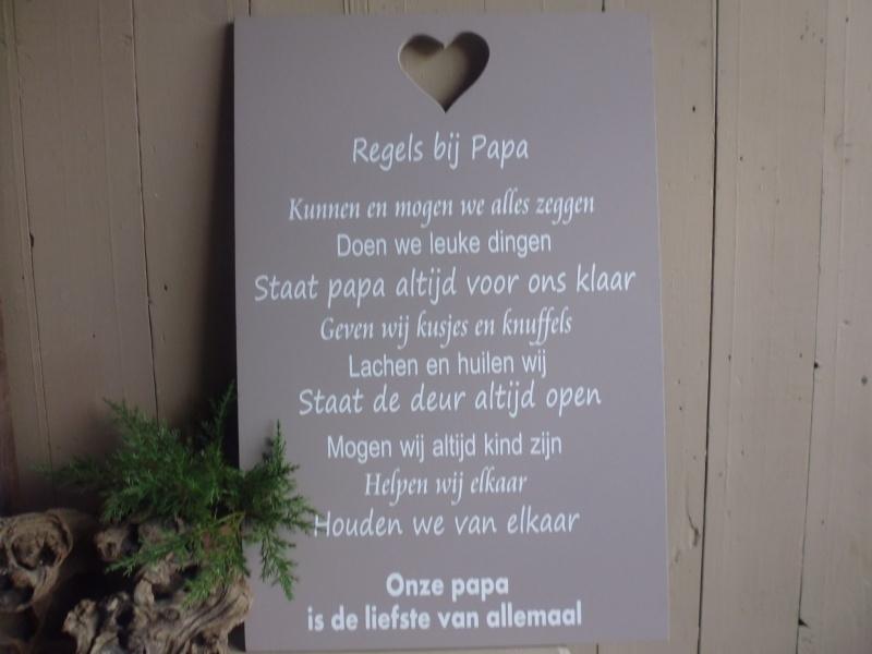 Regels bij Papa Tekstbord