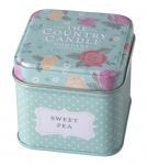 Country Candle Sweet Pea Vintage Floral - Tin
