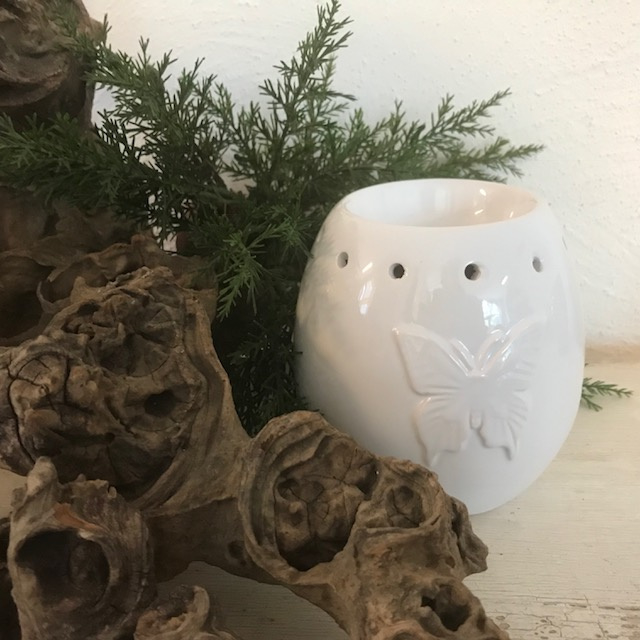 Butterfly  Waxmelt Burner White
