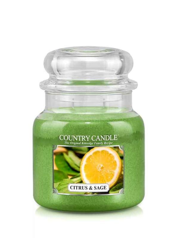Citrus  & Sage Country Candle Medium Jar 90 Branduren
