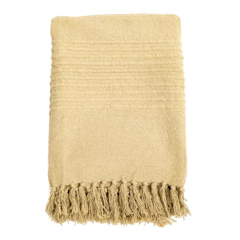 Cotton Plaid  Throw Rosie Yellow