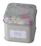 Country Candle Fresh Linen Vintage Floral - Tin