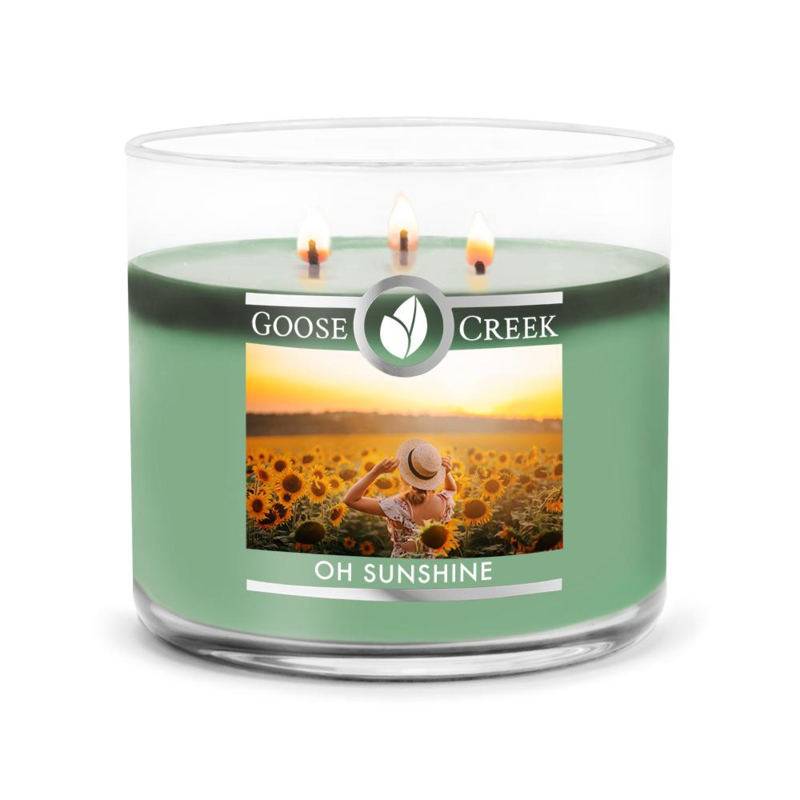 Oh Sunshine Goose Creek Candle  3 Wick Soy Blend  Geurkaars