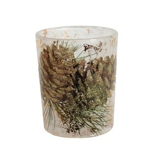 Golden Pinecone Votive Holder 2 atuks