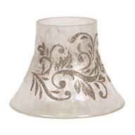 Gold Scroll  Candle Jar Lamp Shade 16cm