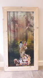 Prikbord Bosdieren (ezel) 75x134cm
