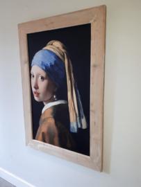 Meisje met de parel van Johannes Vermeer (81x121cm)