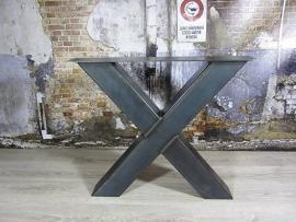 Tafel met X kruispoot 1x2 meter