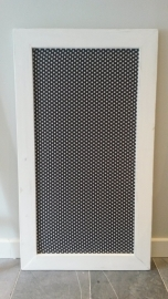 Prikbord 75x134cm white wash