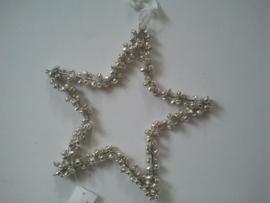 Ster van belletjes (L) zilver