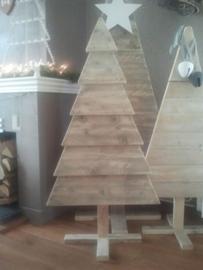 Kertsboom steigerhout (potdeksel)