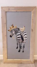 Prikbord zebra 75x130cm