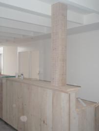 Toonbank steigerhout