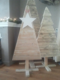 Kerstboom steigerhout (strak)
