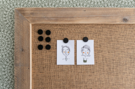 Magneetbord met jute stof