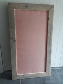 Prikbord 75x134cm (jute zalmroze)