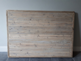 Tafelblad steigerhout met smalle planken, super gaaf!