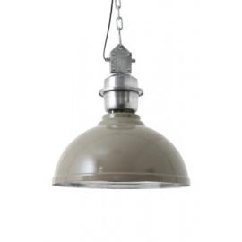 Hanglamp industriële lamp XL epoxy grijs (52cm)