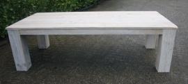 Tafel steigerhout met blokpoot
