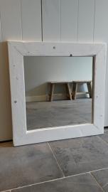 Spiegel 70x70cm white wash