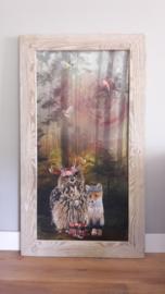 Prikbord bosdieren (uil) 75x134cm