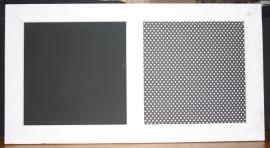 Krijt- en prikbord 75x134cm (white wash lijst)